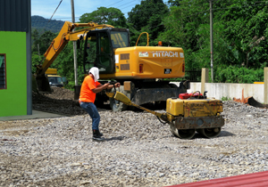 SK Tebakang gets help from CMS Roads crew